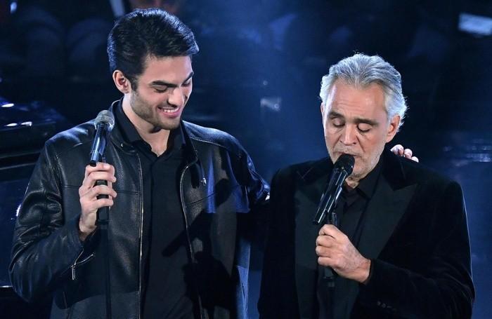 Bocelli e il figlio Matteo