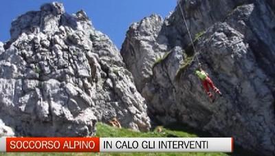 Soccorso alpino: calano le richieste d'aiuto ma non bisogna abbassare la guardia