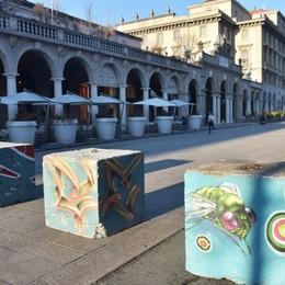 Nuovi plinti anti-terrorismo sul Sentierone Bisogna aspettare fino a marzo