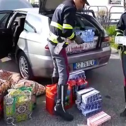 Sequestro di sigarette in autostrada