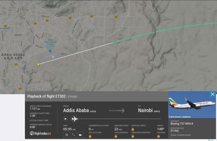 Il tragitto dell'aereo caduto