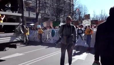 Marcia del clima: partenza del corteo