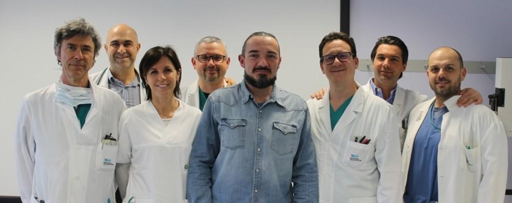Salvato con un'operazione all'aorta  L'intervento record al «Papa Giovanni»