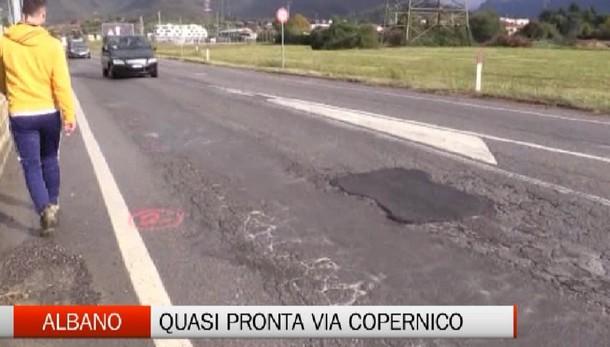 Albano - Viabilità: riparte il cantiere di via Copernico