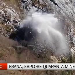 Ardesio, l'esplosione di quaranta mine per la frana