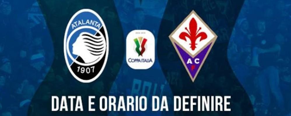 Atalanta-Fiorentina, biglietti in vendita per la semifinale di Coppa Italia
