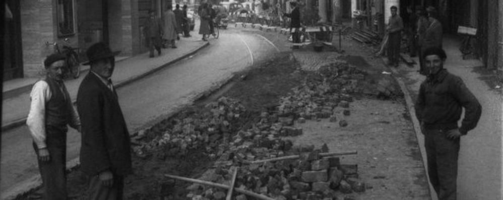 Via Broseta e i binari del tram Trent'anni di corse, poi tutto finì