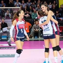 Volley femminile, grinta Zanetti Bergamo L'anticipo porta bene, Scandicci battuta