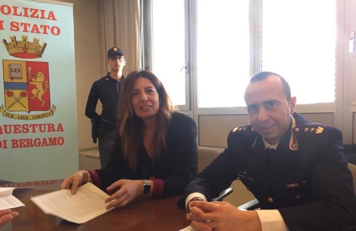 La conferenza stampa alla Questura di Bergamo