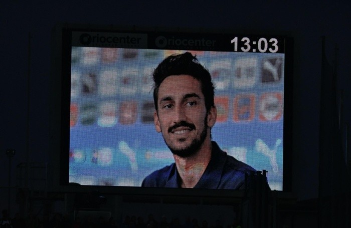 Davide Astori during the Italian Serie A soccer match Atalanta- Fiorentina at Stadio Atleti Azzurri d'Italia in Bergamo, Italy, 3 March 2019. ANSA/PAOLO MAGNI
