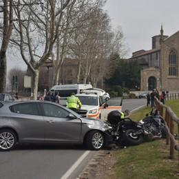 Bergamo, incidente in via Fara  È polemica sulla sicurezza