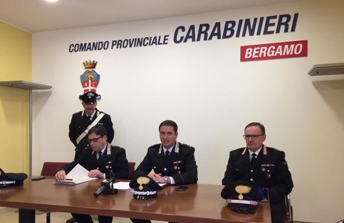 La conferenza stampa al Comando provinciale Carabinieri di Bergamo