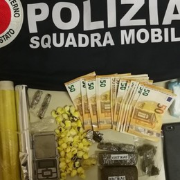 Valtesse, arrestato spacciatore 42enne In casa aveva cocaina, eroina e hashish