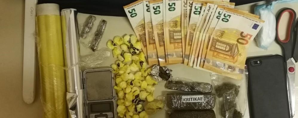 Valtesse, arrestato spacciatore 42enne In casa aveva cocaina, eroina e hashish