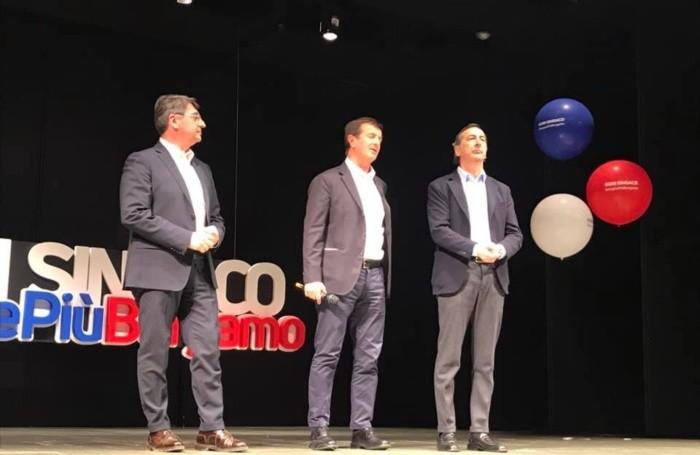 Con Emilio Del Bono e Beppe Sala
