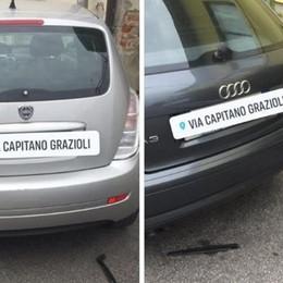 Alzano, vandali in azione in via Grazioli Auto danneggiate e moto buttate a terra