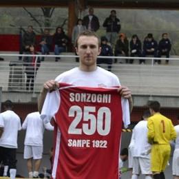 Sonzogni, una sola maglia: il «Sanpe» Ventidue anni e 50 gol in biancorosso