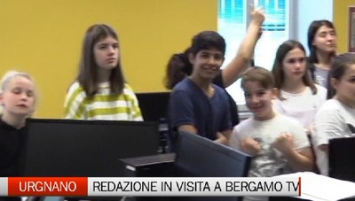 Studenti in erba da Urgnano all'Eco e a Bergamo Tv