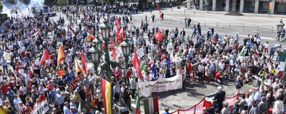La manifestazioni per il 25 aprile La Lega diserta, ma solo in città