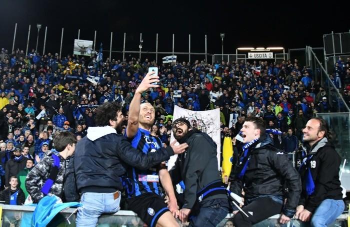 25 APRILE 2019 TIM CUP - COPPA ITALIA Atalanta-Fiorentina In foto: fine partita Masiello Andrea (Atalanta B.C.)