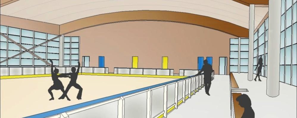 Come sarà il nuovo palazzetto Grandi vetrate e pista per pattini a rotelle