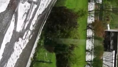 Grandinata in tutta la Bergamasca - Video