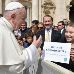 Il grido della terra Il Papa riceve Greta