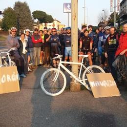 Curno, rubata la bici bianca «Simbolo» della tragedia sulla Briantea