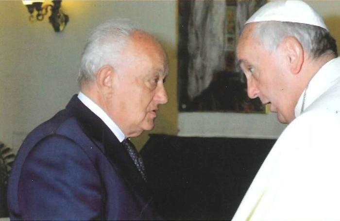 Piero Busi con Papa Francesco