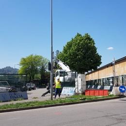 Stadio, stop auto nella Nord - Foto Il cantiere arriva in via Fossoli
