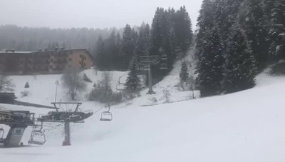 Val Seriana, la nevicata al Monte Pora