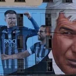 Atalanta, ecco il murale per la finalissima Ci sono Ilicic, Gomez, Zapata e il Gasp