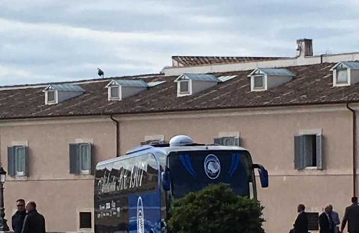 Il bus dell'Atalanta al Quirinale