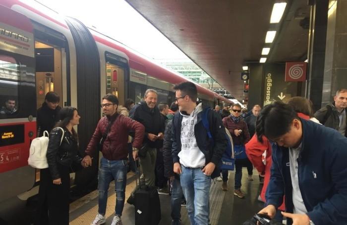 L'arrivo a Roma dei tifosi con il Frecciarossa