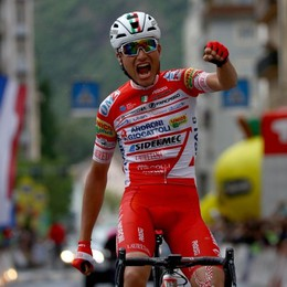 Vittoria dedicata allo zio che non c'è più Giro d'Italia, vince il bergamasco Masnada
