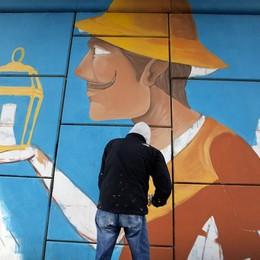 Street art tra Arzago e Casirate I «Cavalca-via» si colorano di fantasia