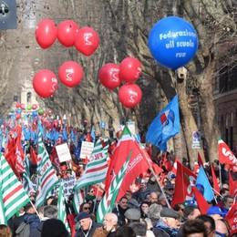 La corsa per Bergamo, Cgil, Cisl e Uil «Il lavoro è il cuore delle nostre proposte»
