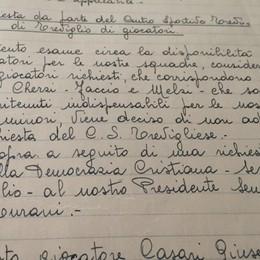 I verbali/13 La Dc (!) chiede giocatori, l'Atalanta rifiuta.  E   Casari poteva tornare!