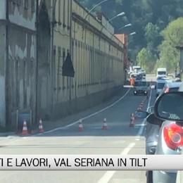 Val Seriana, traffico in tilt tra incidenti e lavori