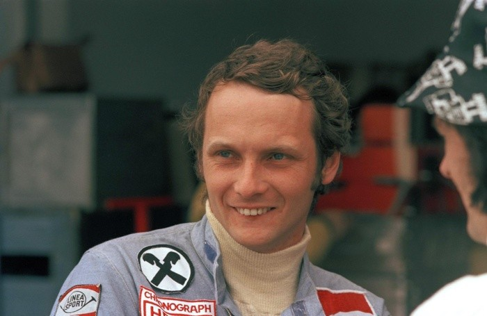 File - In this Jan. 12, 1975r Niki Lauda, pictured during the Argentine Grand Prix in Buenos Aires.