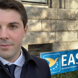 Voli sicuri, Luca fa il «check up» agli aerei Da Brembate Sopra all'Agenzia europea