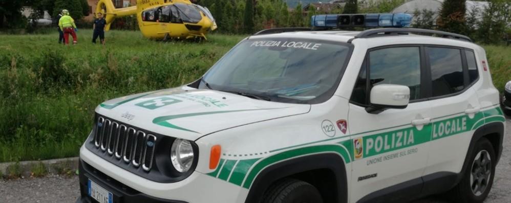 Casnigo,  operaio ustionato dal vapore Trasportato in elicottero a Verona