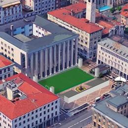 Un ritorno a Bergamo dopo dieci anni C'è il calcetto in piazza della Libertà
