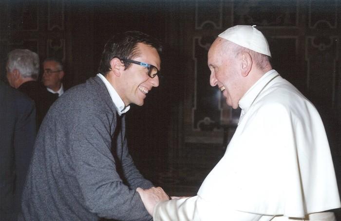 Don Glauco Grazioli con Papa Francesco