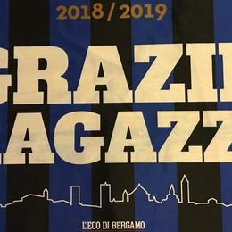 Atalanta, diciamo tutti «Grazie ragazzi» con la bandiera de L'Eco di Bergamo
