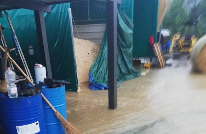 I danni di sabato pomeriggio a Valbrembo