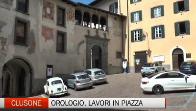 Clusone, lavori in piazza Sant'Andrea sino a metà luglio