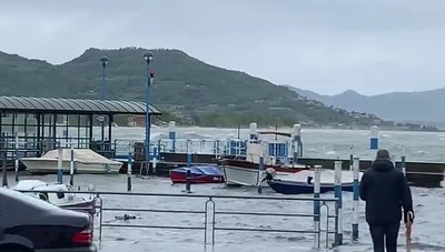Tempesta sul lago d'Iseo