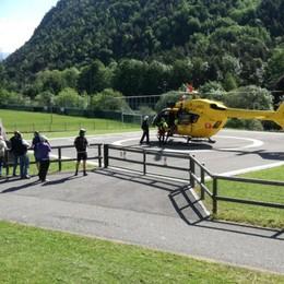 Cade sul Frol, arriva l'elicottero Cinquantunenne soccorso a Casnigo
