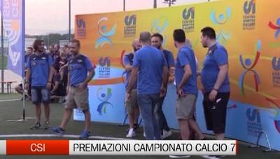 Csi: le premiazioni dei dilettanti di Calcio a 7.